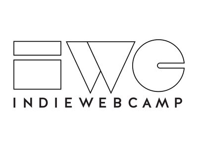 Indie Web Camp Logomark - outlines golden rectangle white triangle rectangle indiewebcamp indieweb circle black
