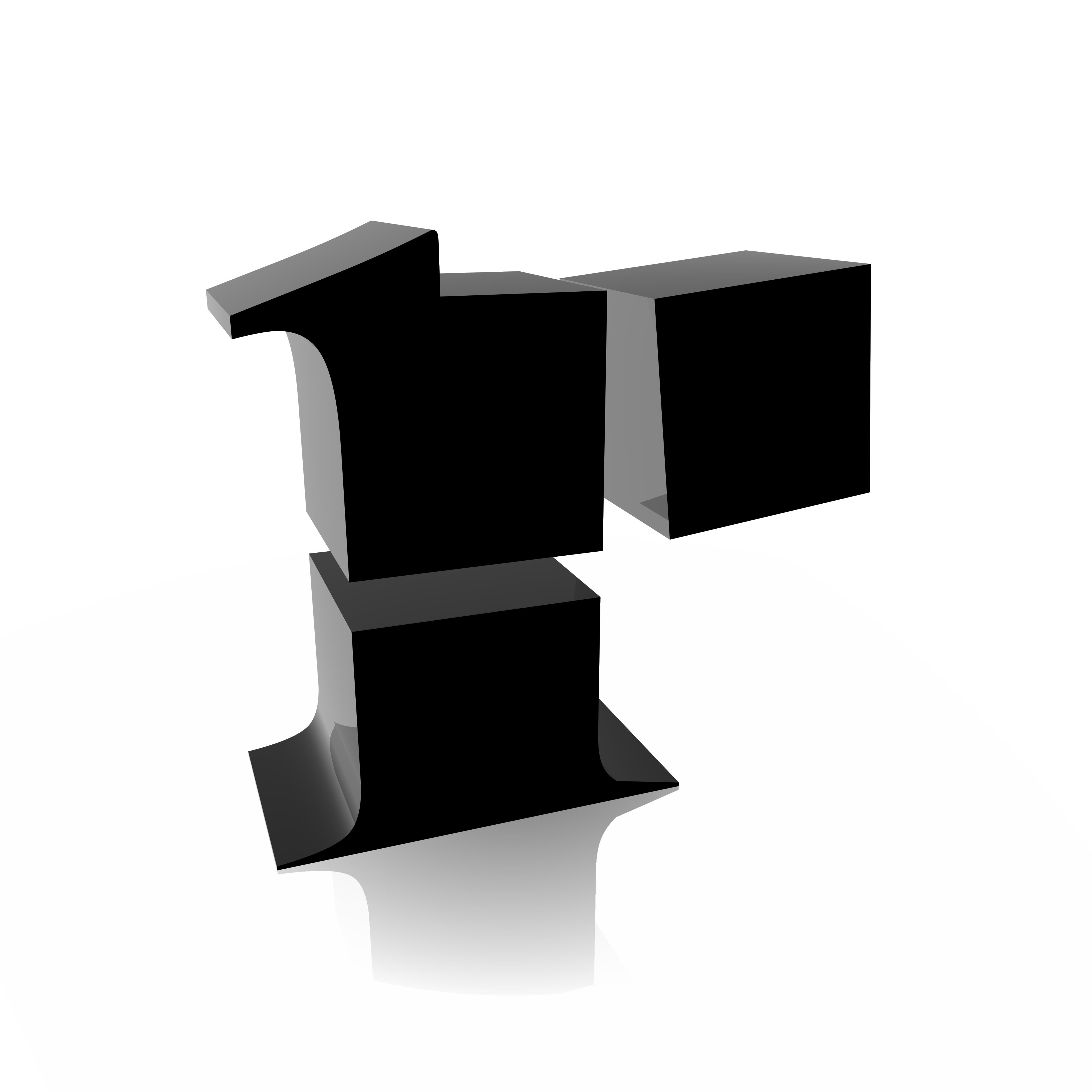 R logo white on black
