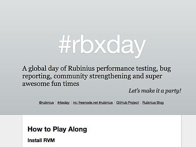 Rubinius — open source cheerleader work art direction rbxday events logo sketch rbx rubinius