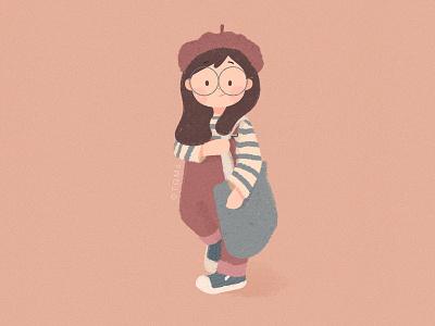 Girl 女孩 插图 儿童