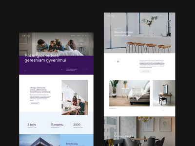Galio Group website realestate typography branding ux after effects website animation ui