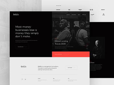 Be&Do website ui dark website
