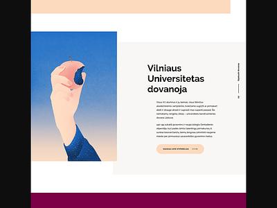 Vilnius University 440 landing page ilustration bold hero ui design website