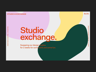 Studio Exchange landing page shapes after effects landing page ui illustration hero animation