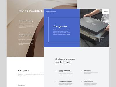 Bigso Packaging website design photos minimalistic clean ui website