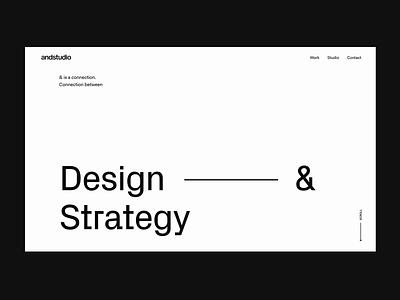 Andstudio website hero case study agency studio typography animation website ui