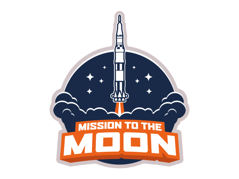 Mission to the Moon Logo branding logo design