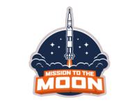 Mission to the Moon Logo branding logo design
