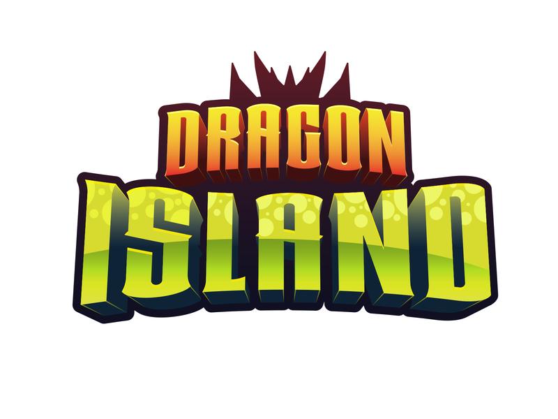 Dragon Island Logo branding design logo