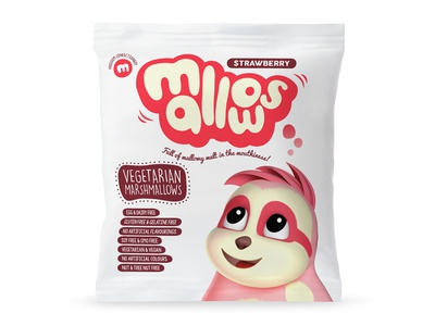 Strawberry Mallows Packaging sweets illustration type packaging marshmallows