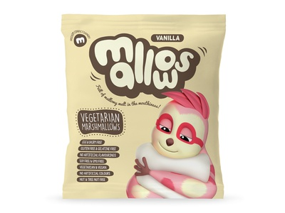 Vanilla Mallows Packaging sweets hand drawn packaging marshmallows illustration
