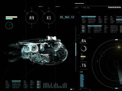HUD Design after effects technical fantasy gui