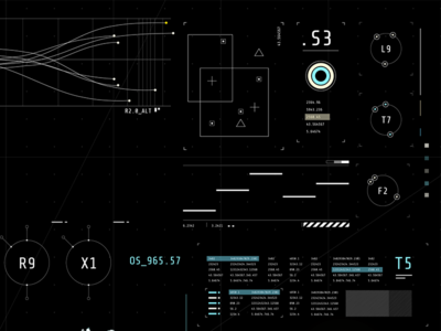 HUD Design fantasy gui technical after effects