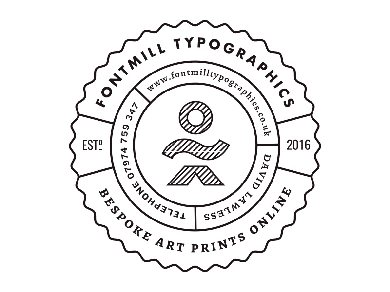 LETTERPRESS BADGE roundel logo badge