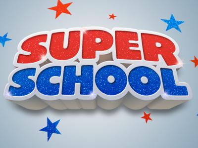 Super School logo photoshop illustrator cc