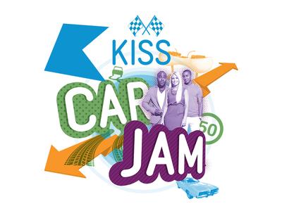KissCarJam Logo photoshop illustrator logo
