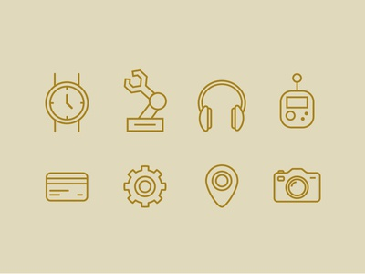Icons for a pattern icon set tech illustration pattern icons