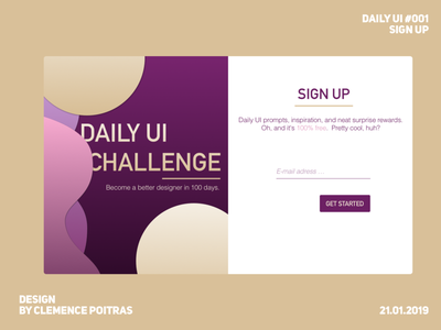 DAILY UI #001 sign up sketch challenge daily ui 001 daily ui