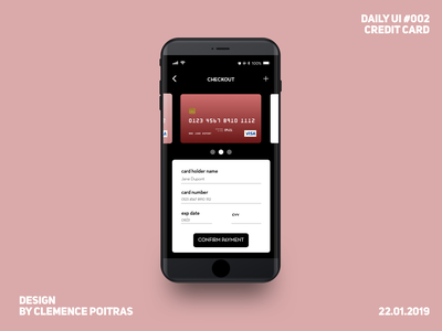 Daily UI #002 ui checkout credit card daily 100 challenge daily ui 002 daily ui