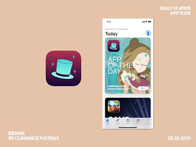 Daily UI #005 app gradient ui layton professor layton logo icon daily ui 005 daily 100 challenge daily ui
