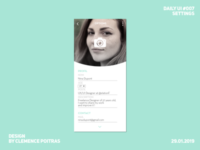 Daily UI #007 daily ui 007 da challenge ui design app daily 100 challenge daily ui