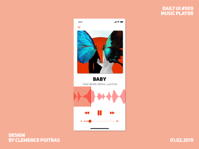 Daily UI #009 music daily ui 009 challenge design app ui daily 100 challenge daily ui