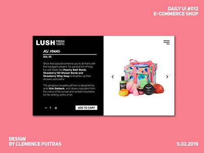 Daily UI #012 e-commerce daily ui 12 daily ui 012 lush da challenge design ui daily 100 challenge daily ui