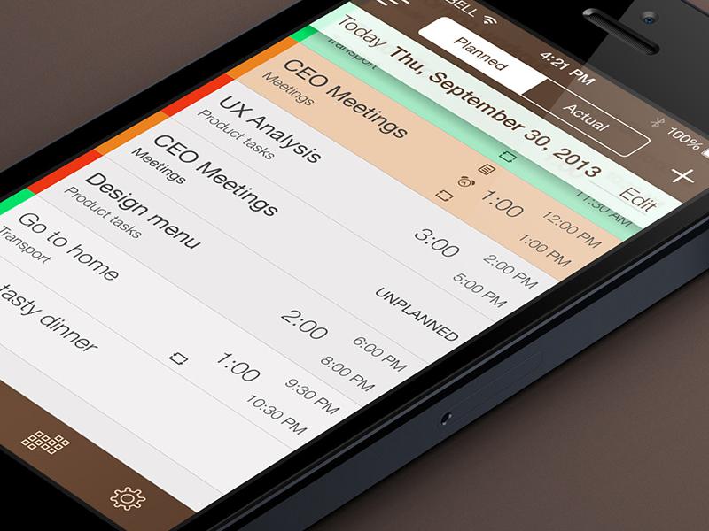 My iOs7 Schedule Planner Redesign iphone ios7 planner flat redesign