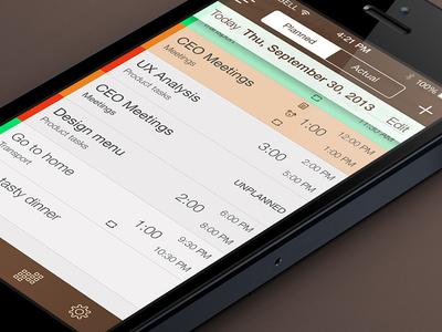 My iOs7 Schedule Planner Redesign