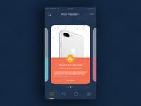 Coupon Promo App Screen app screen promo coupons iphone pallette color concept design app ux ui