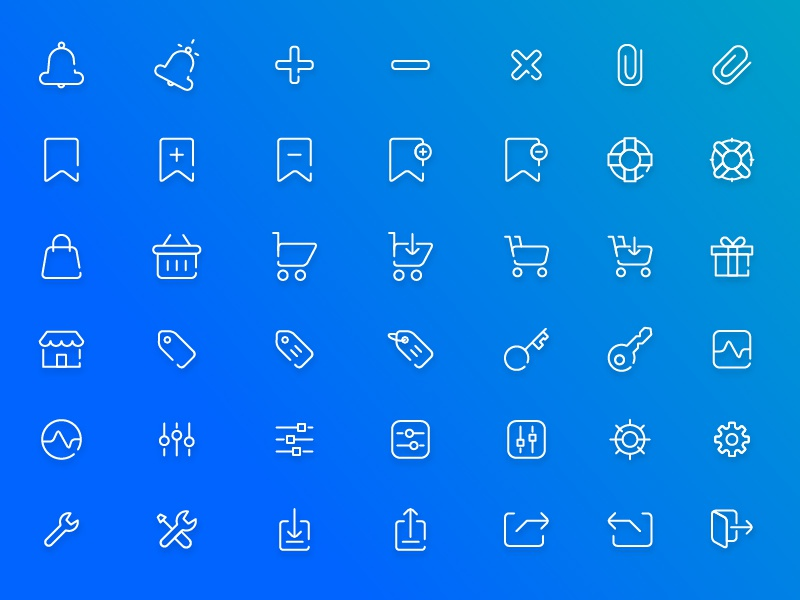 Free Ecommerce Icon Pack + PSD / AI Freebie android iphone cart ecommerce app development ux ui thin flat icon pack icon