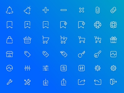 Free Ecommerce Icon Pack + PSD / AI Freebie