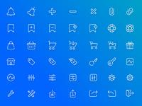 Free Ecommerce Icon Pack + PSD / AI Freebie