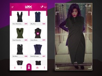 Concept UI - Augmented Reality Fashion App