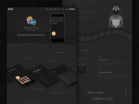 App Case Study - Dark Themed Messenger App