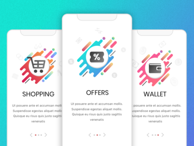 E-commerce App Screens ux ui sign-up sign-in app onboarding app screens online shopping e-commerce