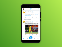 Redesign Twitter App Home Screen