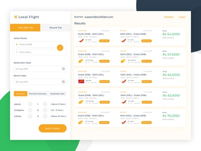 Flight Booking App Concept Search Results