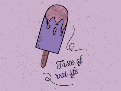 Taste of real life food pop sicle taste summer purple illustration drawing ice cream