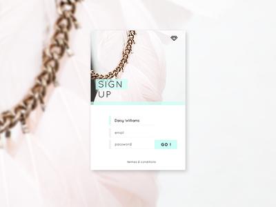 Daily UI / Sign Up web pastel ui webdesign sign up daily ui