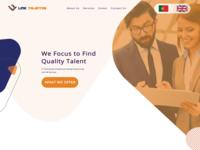 Link Talentos Web layout