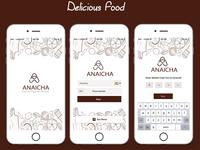 Mockup for Food App
