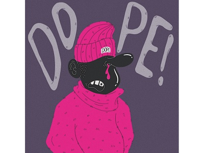 dope dude cold sweater design drawing draw character art hiphop skater beanie dude illustration characterdesign character