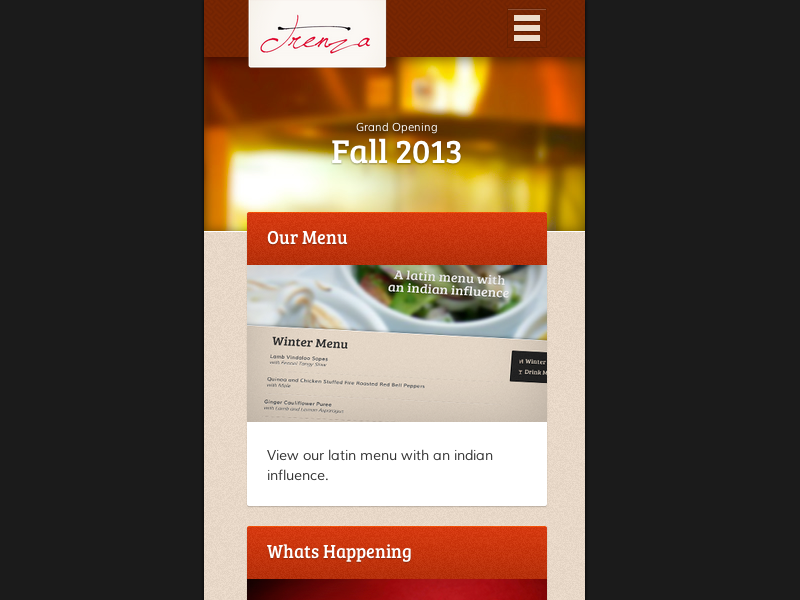 Trenza Houston. Responsive menu closed. responsive navigation css html5 ux ui