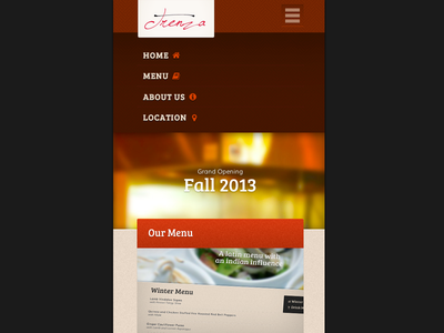 Trenza Houston. Responsive menu open. responsive navigation responsive navigation css html5 ux ui