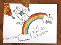 02: Draw me a [Cat Riding On A Rainbow]