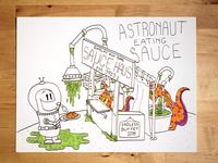 10 Astronaut Eating Sauce Social