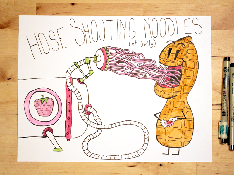 12 Draw Me A Hose Shooting Noodles Of Jelly By Jesse Willmon