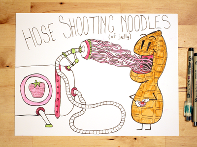 12: Draw me a [Hose Shooting Noodles Of Jelly] illustration youtube peanut butter peanut noodles hose jelly
