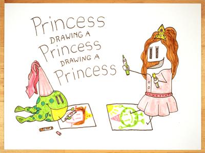 22: Draw me a [Princess Drawing A Princess Drawing A Princess] frog illustration drawing princess